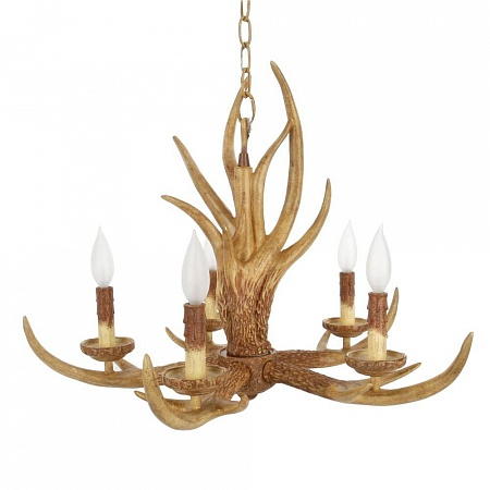 Hampton Bay 5-Light Hanging Natural Antler Chandelier